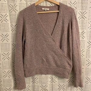 Madewell Coziest Yarn Wrap Front Sweater